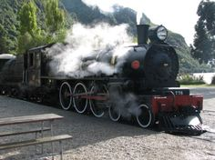Historic steam train, Queenstown, New Zealand