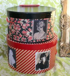 Recycled vintage hat boxes