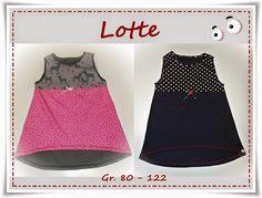 """eBook - """"Lotte"""" von Frau Ninchen ist als Tunika/Kleid für Kinder ein echter Allrounder und sehr schnell genäht - Schnittmuster mit Schritt für Schritt-Anleitung"""