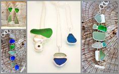 Seaglass jewelry by Ek Art Jewelry Tamarindo, Costa Rica #tamarindo #costarica #jewelry #designers #seaglass #wedding
