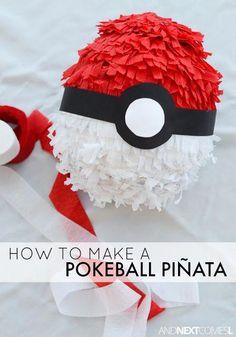 How to make a pokeball pinata for a Pokemon birthday party Tween Party Games, Birthday Party Games, 6th Birthday Parties, Boy Birthday, Birthday Ideas, Turtle Birthday, Turtle Party, Carnival Birthday, Pokemon Themed Party
