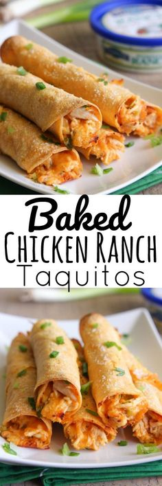 Eat Cake For Dinner: Baked Chicken Ranch Taquitos