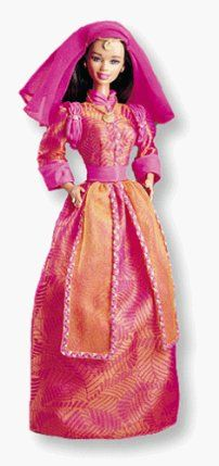 """Dolls of the World Moroccan Barbie by Mattel. $24.99. All provided details are to the best of my ability & may not be exact; colors, styles, sizes & details may vary. Please contact my before buying to make sure it is the product you are looking for to ensure the best shopping experience.. Includes: 11.5"""" Barbie Doll comes in a vivid, scarlet and fuchsia robe with a Moorish motif. Several sheer fabrics float from her waist and head, setting off her dar, sienna-toned..."""