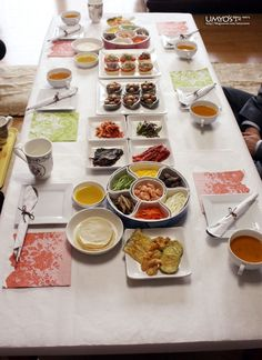a full korean table