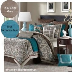 Turquoise Bedding Design Ideas, Pictures, Remodel, and Decor - page 2