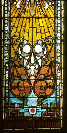 Stained Glass windows in the sanctuary of St Mary's Espicopal Church Middlesboro, KY
