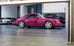 """1990's Porsche 964 Carrera RS in amazing colour Rubystone Red which was actually in reality Pink Panther pink"""""""