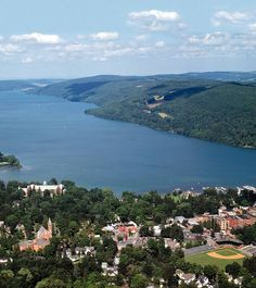 The Otesaga Hotel on the shore of Otsego Lake in picturesque Cooperstown, New York.