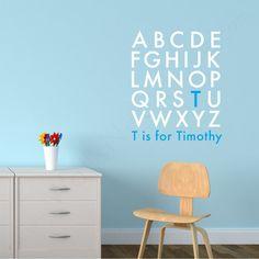 Nursery Wall Decal - Alphabet Name Monogram 40$