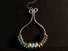 Found Object Earrings made of Washers--Funky style