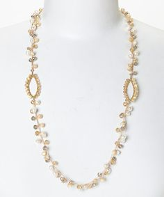 Another great find on #zulily! Gold & Topaz Open Oval Necklace by PANNEE JEWELRY #zulilyfinds