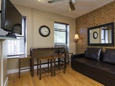 Living Room with sleep sofa and Dining Area home away #3470405  30th & 9th $500/n
