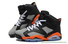 hot sale online 80d5b f7b4b chaussures basketball Dog Lines Orange Gris Noir AIR JORDAN 6 RETRO  309387-068 Hommes