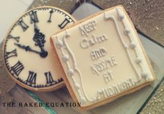New Years Eve Cookies. Kiss Me at Midnight