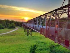 "The ""Red Dot"" - Bunge Grain Elevator - Greenville, Mississippi - Mississippi Delta Sunset - Order prints from www.flatoutdelta.com -  © 2013 John Montfort Jones"