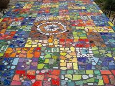 mosaic table by Robin Herskowitz and Daughter