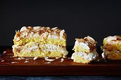"""World's Best Cake"" with Banana & Coconut Follow these instructions and you'll have an impressive, towering dessert without having to worry about burning a meringue, shaving down layers of cake (…more) —Sarah Jampel"