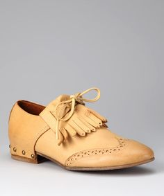 Take a look at this Sixty Seven Yellow Tie Loafer by Sixty Seven & MTNG on #zulily today!