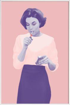 Twin Peaks als Poster im Kunststoffrahmen von Polilovi   JUNIQE