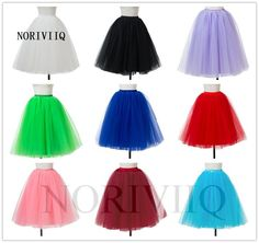 5 Layer Tulle Petticoat Tutu Underskirt Swing Vintage Rockabilly Fancy Net Skirt