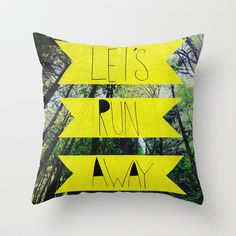 let's run away: forest park pillow by leah flores designs (another option for the camper)
