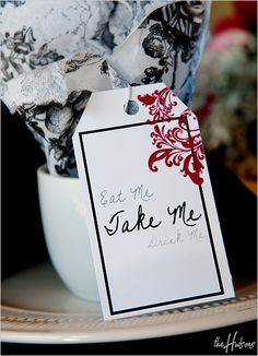 Alice in Wonderland-themed favors - Photo by Jason