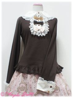 Sugar Hearts Color Cutsew (2014) in Brown from Angelic Pretty - Lolita Desu