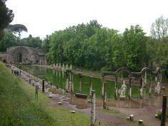Gardens, Hadrian's villa near Tivoli