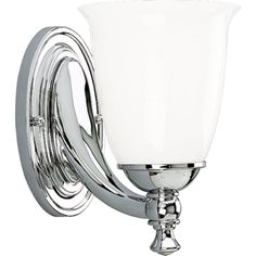 Progress Lighting P302715 1Light Bath Bracket with White Opal Glass Polished Chrome >>> Be sure to check out this awesome product.