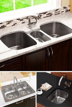 Triple sink w/vanishing edge | Home beautification | Pinterest ...