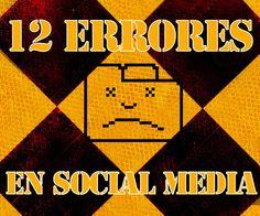 12 ERRORES EN SOCIALMEDIA QUE TODOS COMETEMOS. El ritmo frenético al que se mueve la información a través de las redes sociales hace que cometer errores sea más fácil que en otros sectores. Aprovecha la oportunidad de reconocer estos errores y convertirlos en aciertos en tu gestión de Social Media.