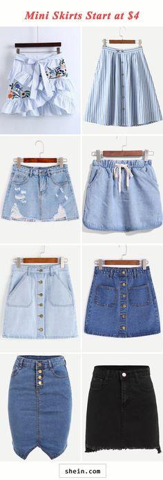Mini skirts start at $4!