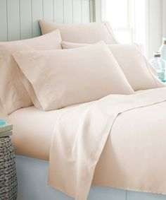 Look what I found on #zulily! Cream Home Collection Sheet Set #zulilyfinds