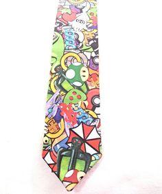 Nintendo necktie by TheGeektonian on Etsy, $33.00