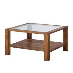 Couchtisch Glasplatte Eiche Massivholz 70x70 Beistelltisch Wohnzimmer Tisch NEU   eBay