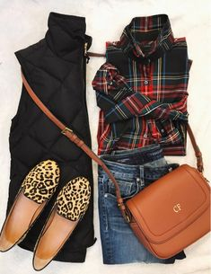 What an awesome outfit! I never would have thought to pair plaid and leopard but I love it! Fall Winter Outfits, Autumn Winter Fashion, Summer Outfits, Casual Outfits, Winter Style, J Crew Outfits, Preppy Fall Outfits, Mens Winter, Looks Style