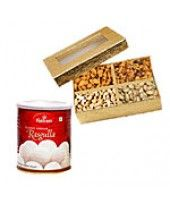 You can choose Dry Fruits with Rasgulla as a different types of gift from FlowerzNCakez that is a combination of sweet and salty pack Sweets Online, Durga Puja, Happy Holi, Water Balloons, Dried Fruit, Sweet And Salty, Online Gifts, Dog Food Recipes, Tasty
