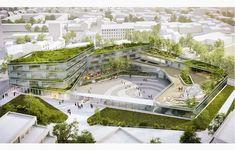 Architecture piercing o pircing - Piercing Architecture Design, Public Architecture, Green Architecture, Futuristic Architecture, Landscape Architecture, Landscape Design, Chinese Architecture, Masterplan Architecture, Urban Planning