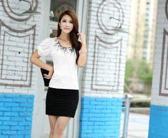 puff sleeve printed shirt, top t-shirt ghl0225, yrb, fashion, yrbfashion, cute dress, uk europe usa style, asian fashion, asian style clothi...