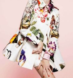 amazing botanical floral swing coat!  #FlowerShop