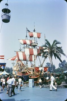 """""""chicken of the sea"""" pirate ship in the old fantasyland"""