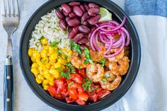 Shrimp Burrito Meal Prep Bowls are Perfect For Clean Eating Meal Prep! | Clean Food Crush
