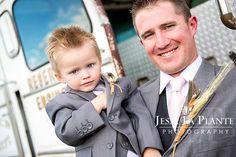 Jesse La Plante Photography | Wiens Ranch Wedding | Sedalia, CO | Groom with ring bearer