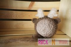 Mohair Deer Bonnet 0 to 3 months prop by RockNWool on Etsy