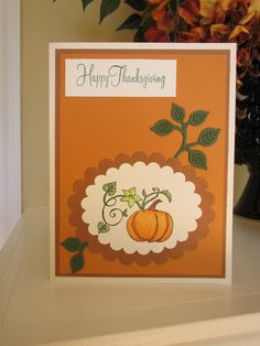 Card using Sizzix dies and pumpkin stamp