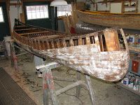 A while back, I wrote briefly about a Chestnut Cruiser slated for restoration. This model of paddling canoe is one of my favorites. Wooden Canoe, Canoes, Outdoor Furniture, Outdoor Decor, Restoration, Building, Home Decor, Paddles, Garden Furniture Outlet