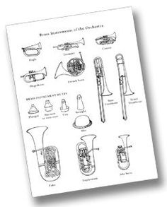 Families of the Orchestra: printable pages for each instrument family