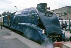 in 1938 during a series of brake tests, steam locomotive and tender 'Mallard' achieved a record-breaking speed of 126 mph at Stoke Bank, between Grantham and Peterborough. Mallard Train, Scientific American Magazine, Severn Valley, National Railway Museum, Steam Railway, British Rail, London Museums, Science Museum, Peterborough