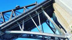 Dissecting the bridge #bits  #sydneyharbourbridge #sun #blueskies #sydney #lines #metal #hot #colours #instapic # geometrical  #angles by romstar29 http://ift.tt/1NRMbNv