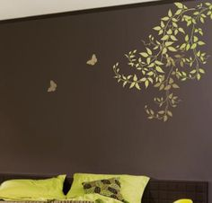 Wall Stencils. Budding Clematis Vines.  Beautiful wall designs by Cutting Edge Stencils. by cuttingedgestencils, via Flickr